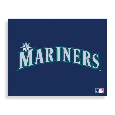 MLB Seattle Mariners Logo Canvas Wall Art