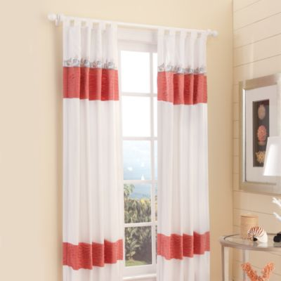 Croscill Waves 108-Inch Tab Top Window Curtain Panel in Sand