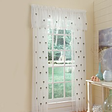 Croscill Palm Coast Sheer Window Curtain Panel