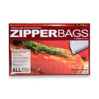VacMaster® Vacuum Packaging Quart Zipper Bags (Set of 50)