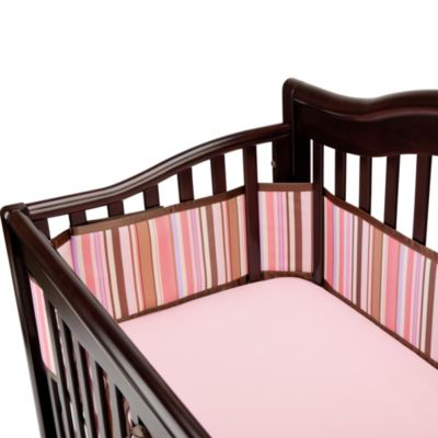 Bedding > BreathableBaby® Universal Mesh Crib Liner in Pink/Chocolate