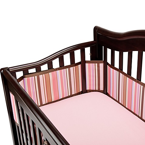 BreathableBaby® Universal Mesh Crib Liner in Pink/Chocolate