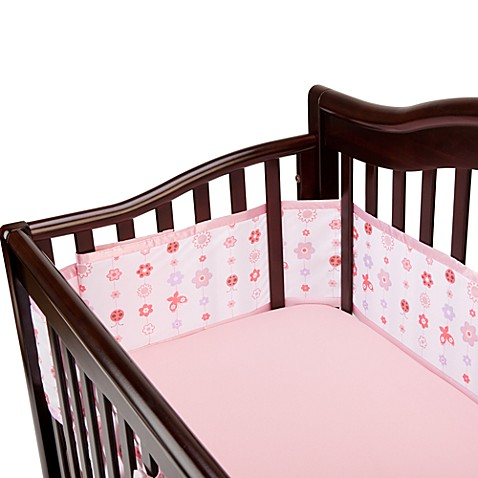 BreathableBaby Universal Mesh Crib Liner - Pink Floral