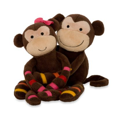 Lambs & Ivy® S.S. Noah Plush Monkeys (Set of 2)