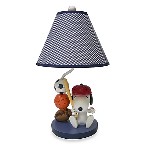 Lambs & Ivy® Team Snoopy Lamp Base and Shade