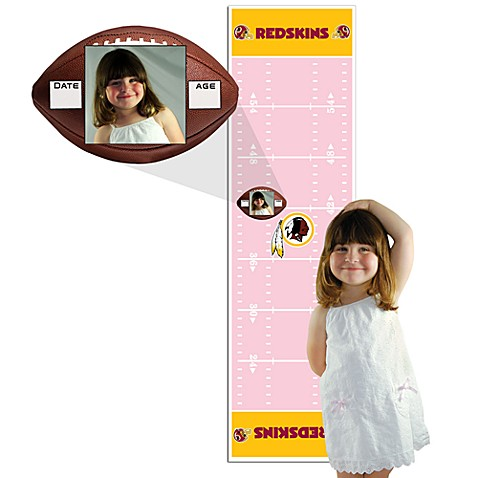 NFL Washington Redskins Pink Growth Chart