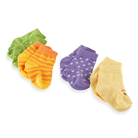 Baby Aspen Caterpillar Crawler Size 0 to 6 Months 4-Pack Socks