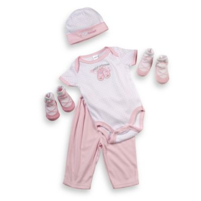 Cutie Pie® 5-Piece Ballet Slipper Layette Set