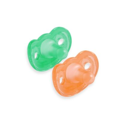 The First Years® Set of 2 Infant Gumdrop Pacifiers in Green/Orange