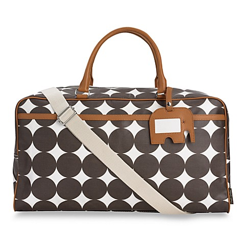 dwell studio weekender bag chocolate dots buybuy baby