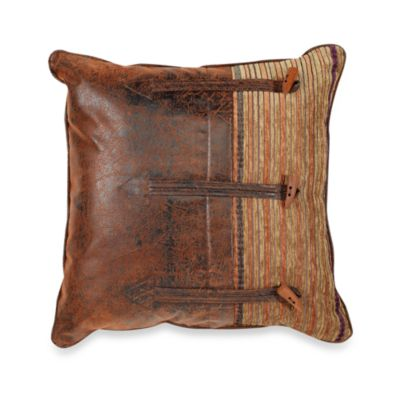 Croscill® Plateau 20-Inch Square Button Toss Pillow