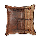 Croscill Plateau 20-Inch Square Button Toss Pillow