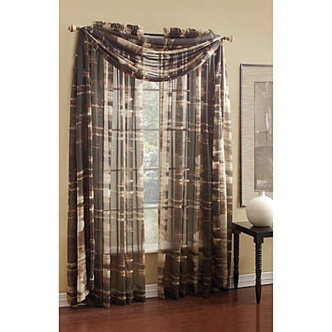 "Camo Sheer 84"" Window Curtain Panel"