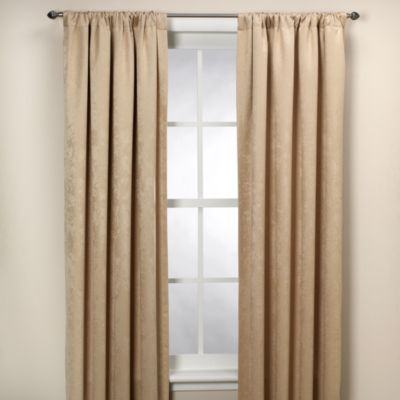 "Bromley Embossed Room Darkening 84"" Window Curtain Panel"