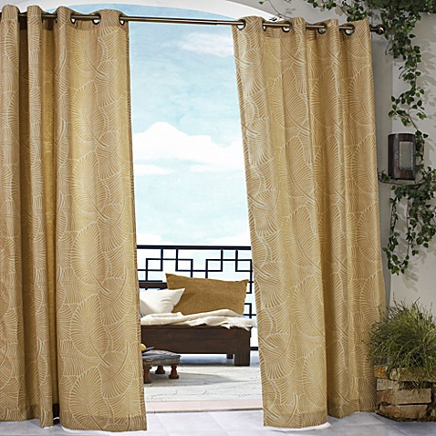 belize indoor outdoor grommet window curtain panels bed
