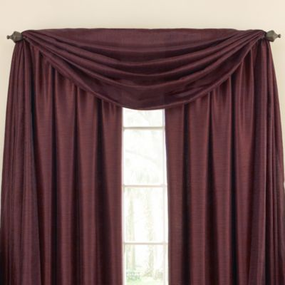 Astoria Sound Asleep™ Window Curtain Thermaliner™ Scarf Valance in Aubergine