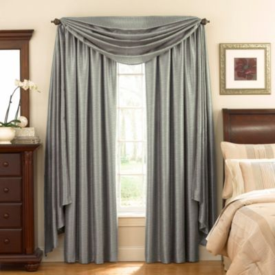 Astoria Sound Asleep™ Room Darkening Window Curtain Thermaliner™ Scarf Valance in Blue