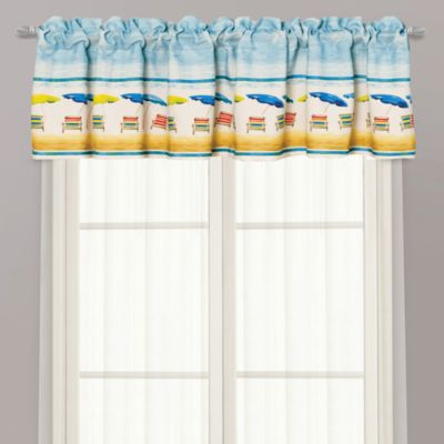 Coastal Blue Window Valance