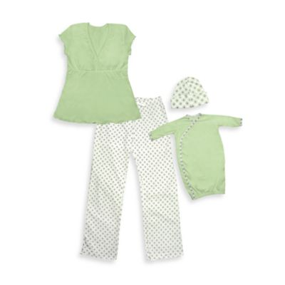 i play.® Mommy & Me Small/Medium Pajamas in Green
