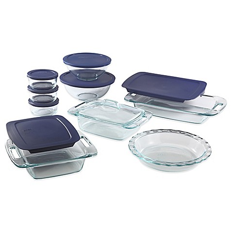 Pyrex 174 17 Piece Glass Bakeware Set Bed Bath Amp Beyond