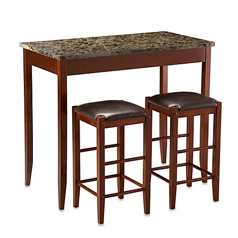 Marble Tavern Pub Stools in 3-Piece Set