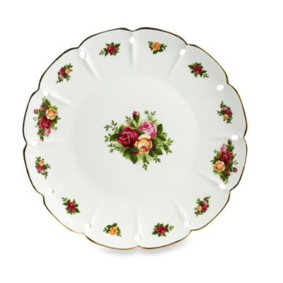 Royal Albert Pierced Round Platter in Old Country Roses