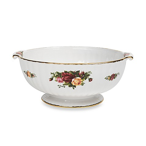 Royal Albert Fluted Serving Bowl in Old Country Roses