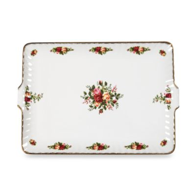 Royal Albert Fluted Serving Tray in Old Country Roses