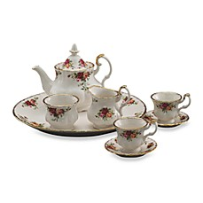 Royal Albert Le Petite 9-Piece Mini Tea Set in Old Country Roses