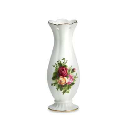 Royal Albert 10-Inch Pierced Vase in Old Country Roses