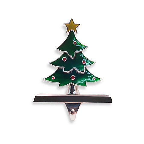 Enamel Christmas Tree Stocking Hanger