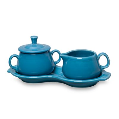 Fiesta® Sugar and Creamer with Tray in Peacock