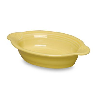 Fiesta® 17 oz. Oval Individual Casserole Dish in Sunflower