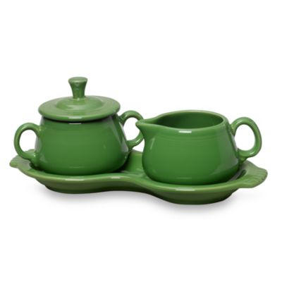 Fiesta® Sugar and Creamer with Tray in Shamrock