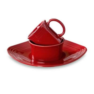 Fiesta® 3-Piece Square Place Setting in Scarlet
