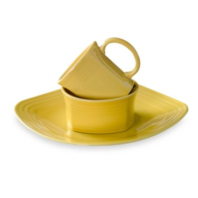 Fiesta® Sunflower 3-Piece Square Place Setting