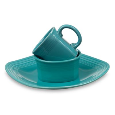 Fiesta® 3-Piece Square Place Setting in Turquoise