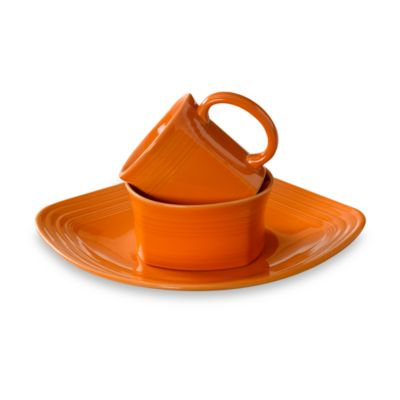 Fiesta® 3-Piece Square Place Setting in Tangerine