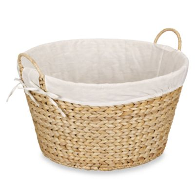 Household Essentials™ Round Banana Leaf Laundry Basket in Natural