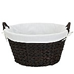 Household Essentials™ Round Banana Leaf Laundry Basket in Brown