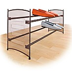Expandable Mesh Shoe Rack in Bronze