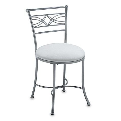 contemporary vanity stool for bathroom | Hillsdale Dutton Vanity Stool - Bed Bath & Beyond