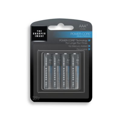 The Sharper Image® 4-Pack AAA Alkaline Batteries