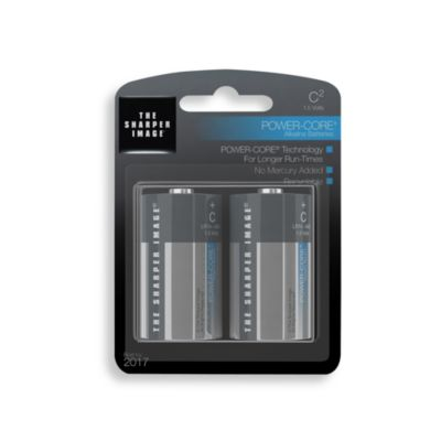 The Sharper Image® 2-Pack C Alkaline Batteries
