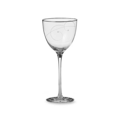 Noritake® Platinum Wave Crystal 12-Ounce Goblet