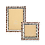 Tizo Two-Tone Clear & Smokey Topaz Jeweled Picture Frames
