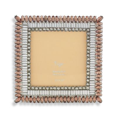 Tizo Two-Tone Topaz Jeweled 4-Inch x 4-Inch Picture Frame