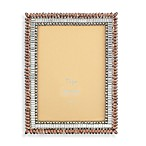 Tizo Two-Tone Topaz Jeweled 5-Inch x 7-Inch Picture Frame