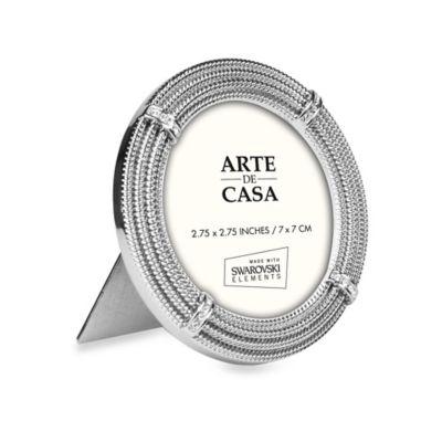 Argento Arte De Casa™ Symphony 2-Inch x 3-Inch Round Picture Frame