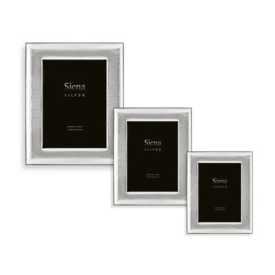 Siena Silver Hammered 3-Inch x 5-Inch Picture Frame